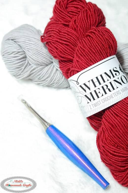 Tunisian Block Scarf - Furls Crochet Yarn - Whims Merino