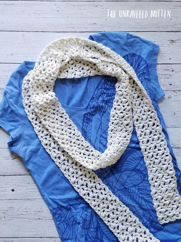 Easy Lace Scarf - The Unraveled Mitten