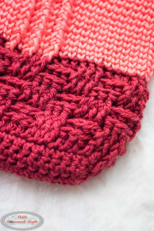 Crochet Bobble Basketweave Bag Part 1