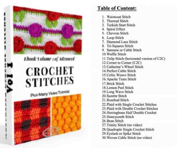 Advanced Crochet EBook Vol1 Table content
