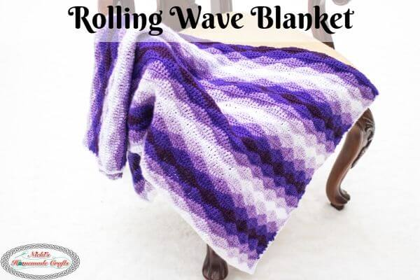 Rolling Waves Blanket - Free Crochet Pattern