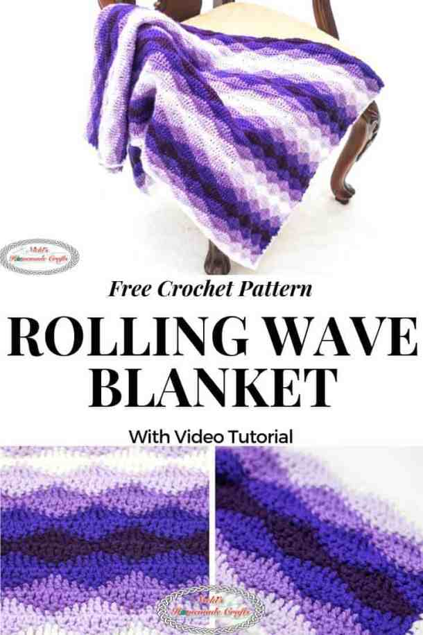 Rolling Waves Blanket as Free Crochet Pattern