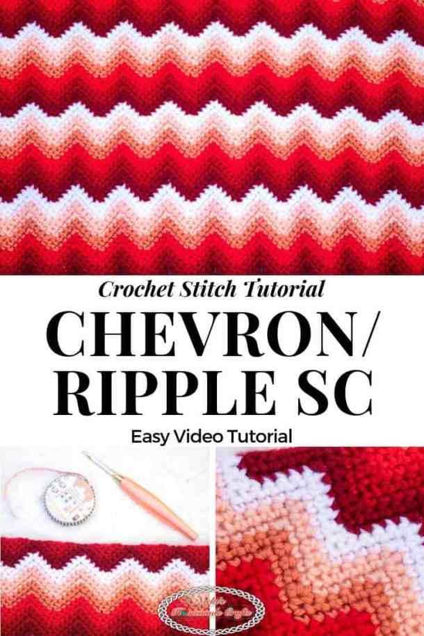Chevron Single Crochet aka Ripple Single Crochet Stitch Tutorial