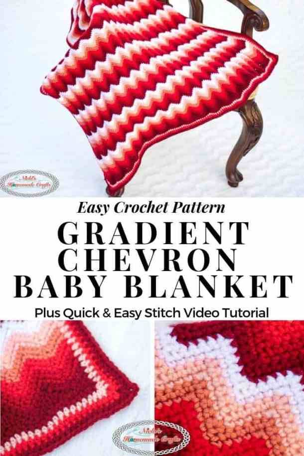 Gradient Chevron Baby Blanket Crochet Pattern