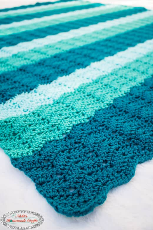 Easy Chevron Blanket - Crochet Pattern