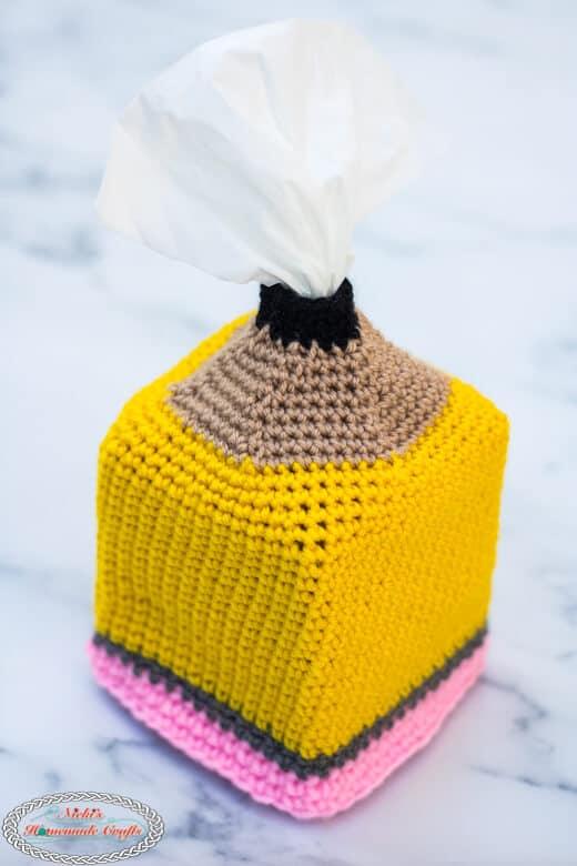 Pencil Tissue Box Cover