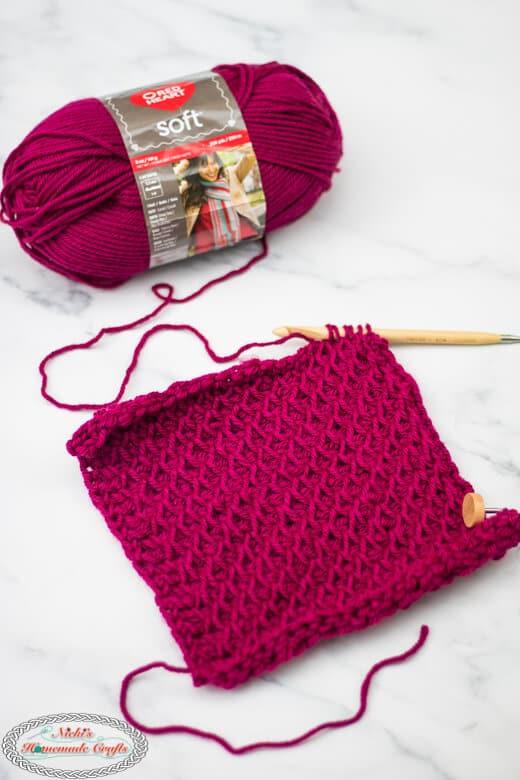 Smock Stitch Tunisian Crochet Tutorial close up