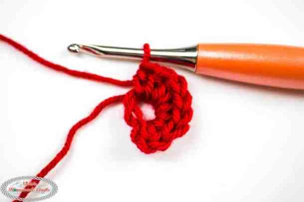 Alternative Magic Ring crocheted