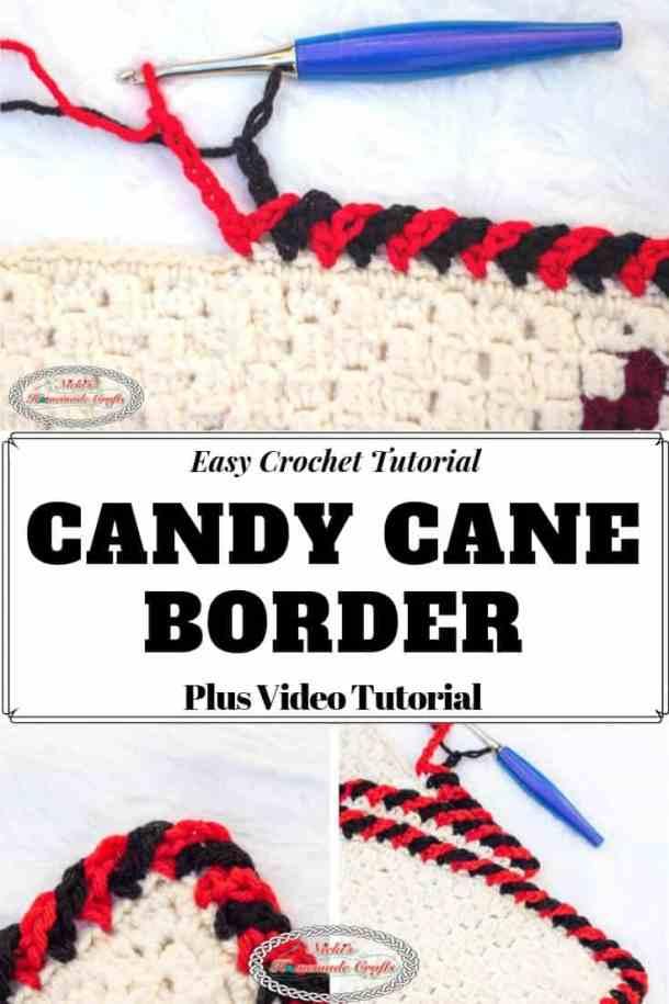 Candy Cane Border Crochet Tutorial