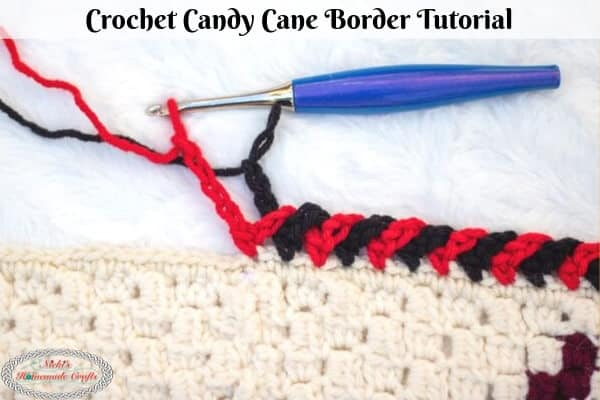 Crochet Candy Cane Border