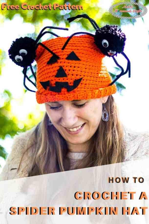 Crochet Spider Pumpkin Hat
