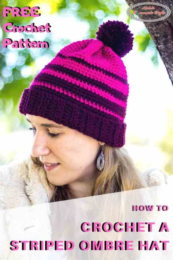 How to Crochet a Striped Ombre Hat