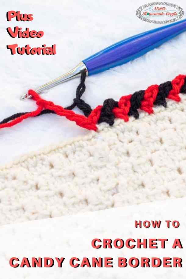How to crochet a Candy Cane Border