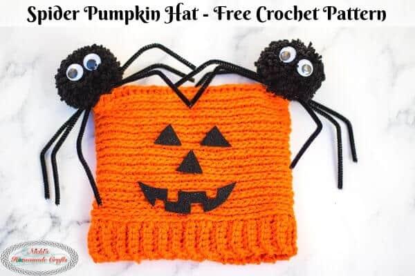 Spider Pumpkin Hat Crochet Pattern