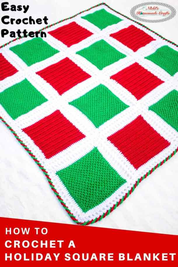 Holiday Square Blanket - Crochet Pattern