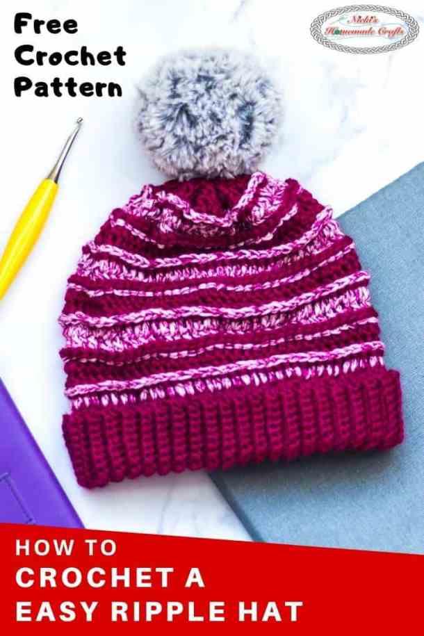 Easy Ripple Hat Free Crochet Pattern