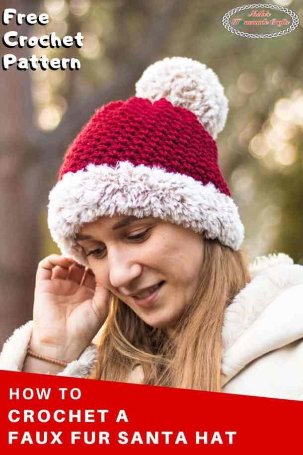 Faux Fur Santa Suzette Hat - Free Crochet Pattern
