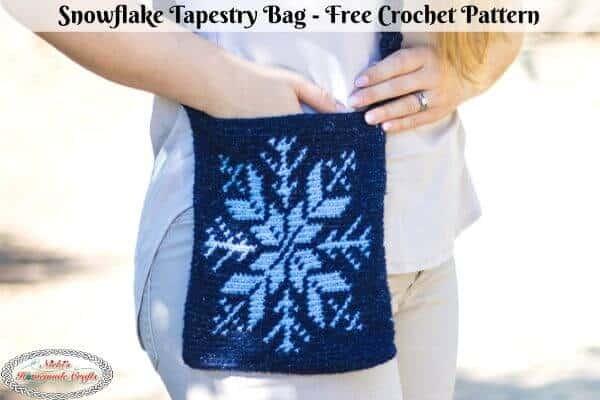 Snowflake Tapestry Bag - Free Crochet Pattern