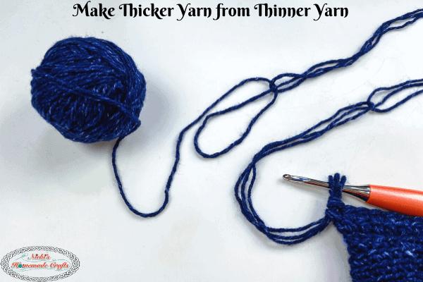 Thicker Yarn from Thin Yarn 1 skein