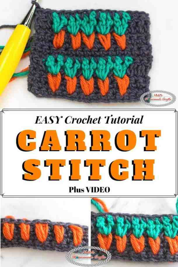 How to crochet the Carrot stitch