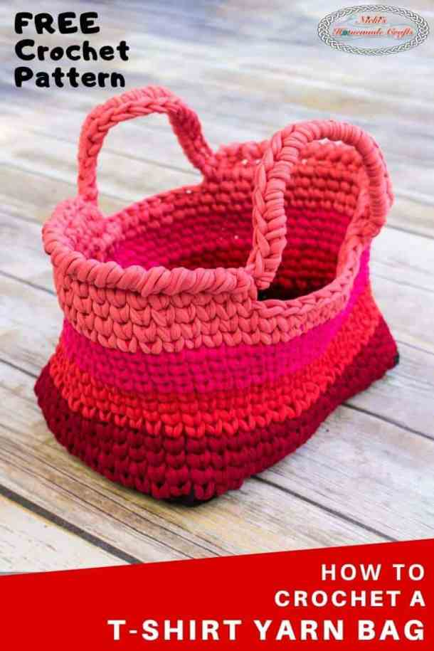 t-shirt yarn bag - crochet pattern