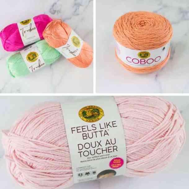 Soft Yarn Lion Brand Truboo, Coboo and Feels like Butta