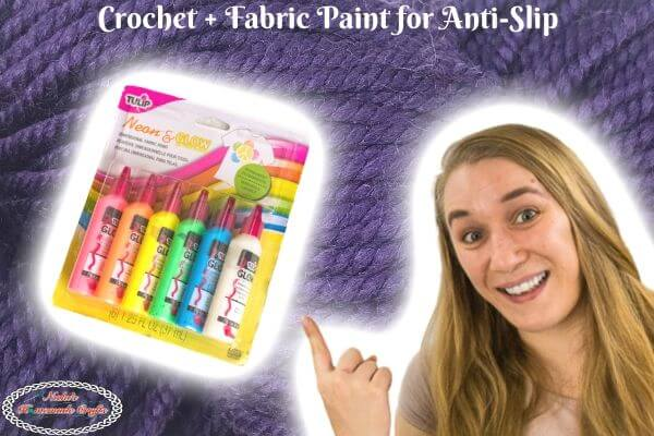 Fabri Paint + Crochet for Anti-Slip
