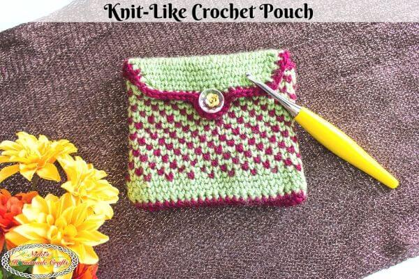 Knit-Like Crochet Pouch Pattern Free