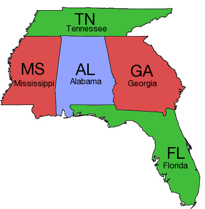 Image result for tennessee and georgia