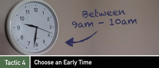 Negotiation Tactic 4: Choose an Early Time