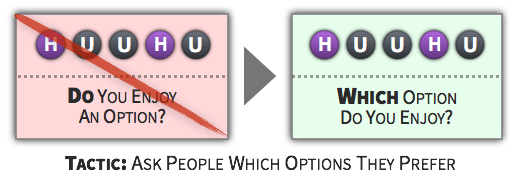 Choice Tactic - Ask People Which Options They Prefer