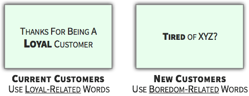 Choice Tactic - Use Variety-Seeking Language for New Customers