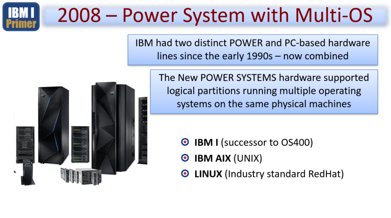 Primer – From the AS400 to ISERIES to IBM i 2