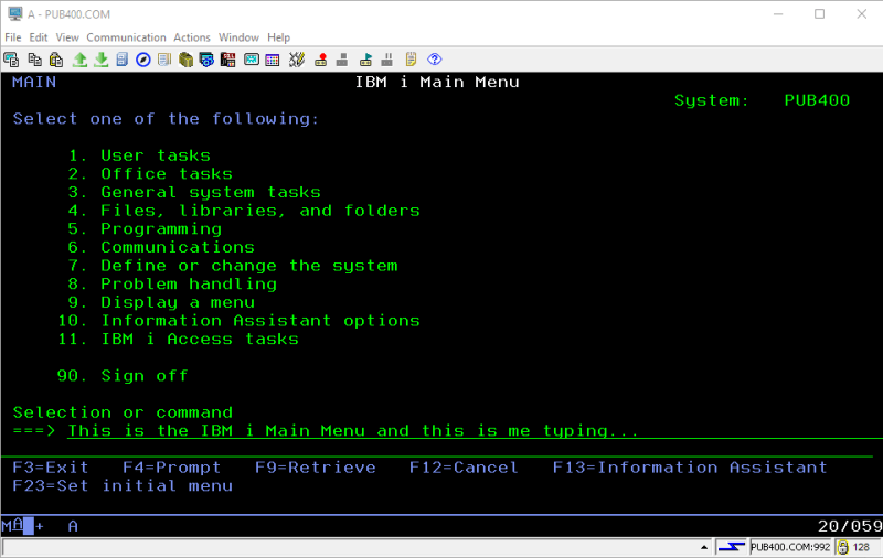IBM i Basics - Setup and Play with your own FREE IBM i System 6
