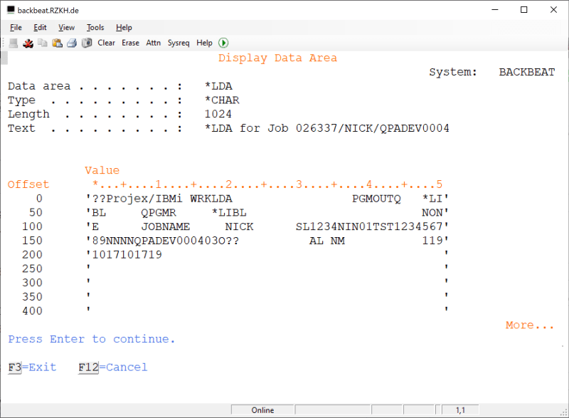 Updating Numeric DTAARA in RPGLE 1