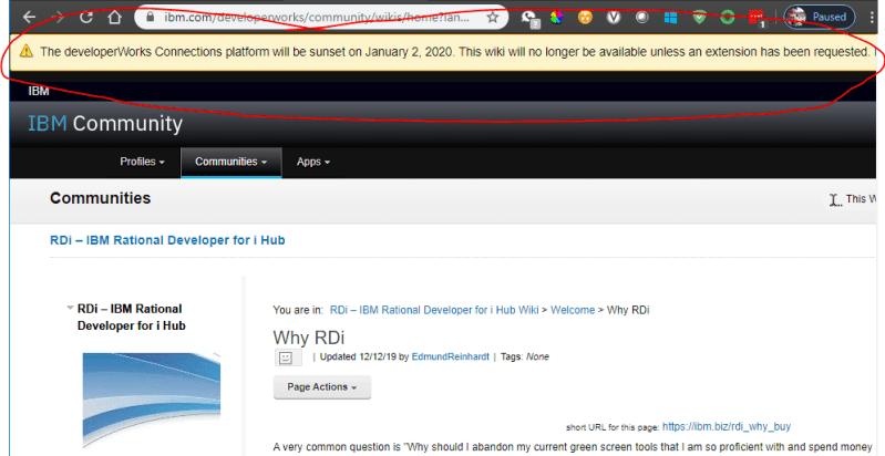 IBM i RDi