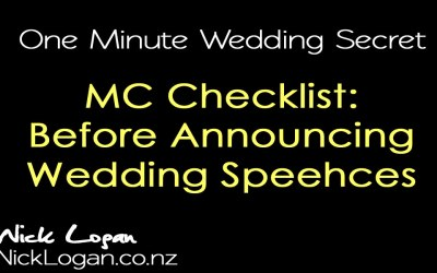 Checklist: Before Your MC Announces Wedding Speeches