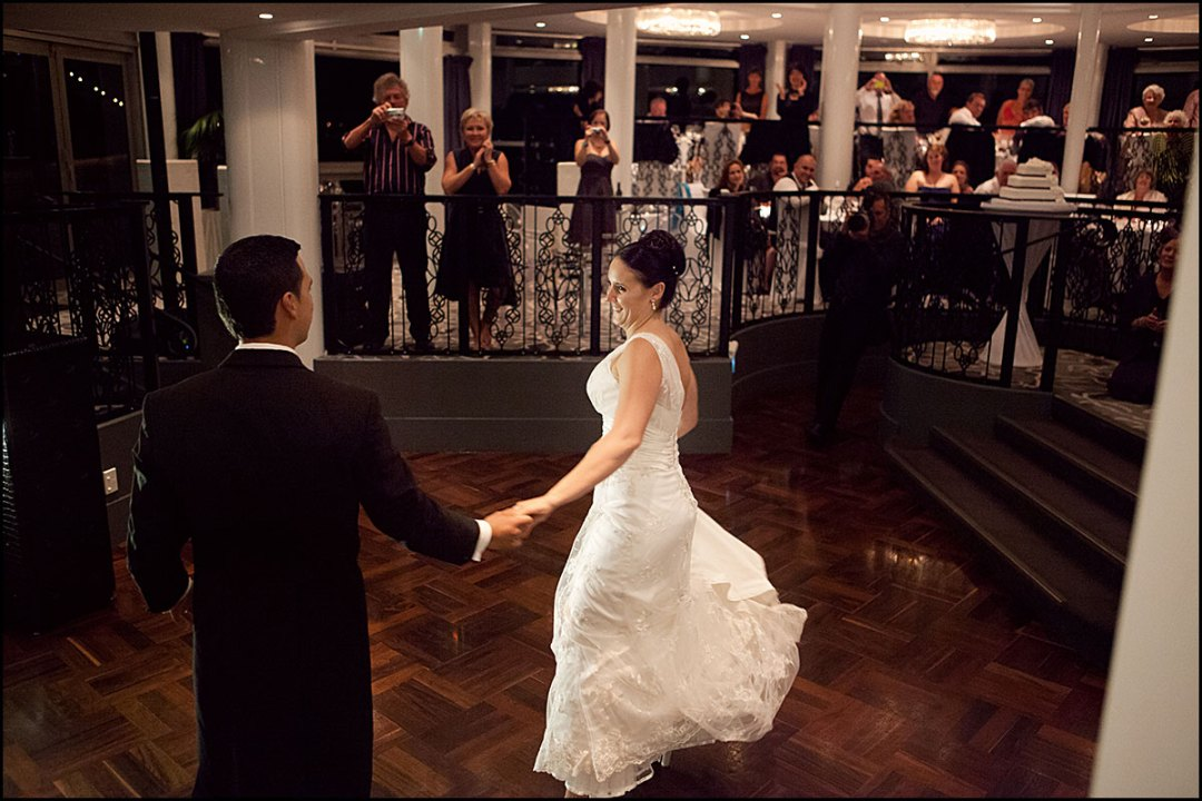 Wedding first dance at The Wharf Auckland with Nick Logan DJ