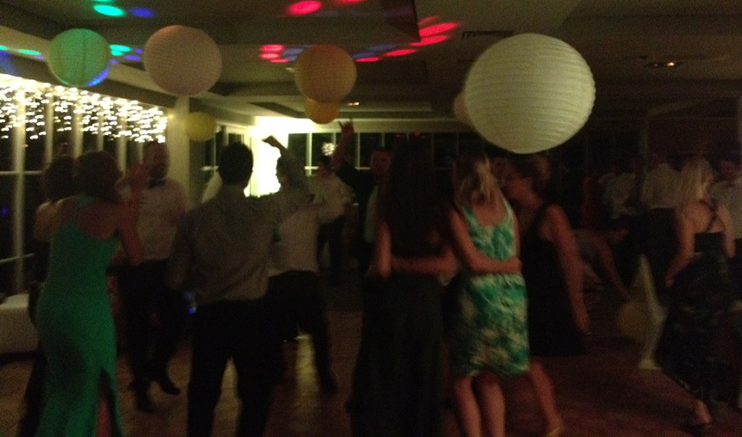 From the wedding dance floor at The Wharf Auckland