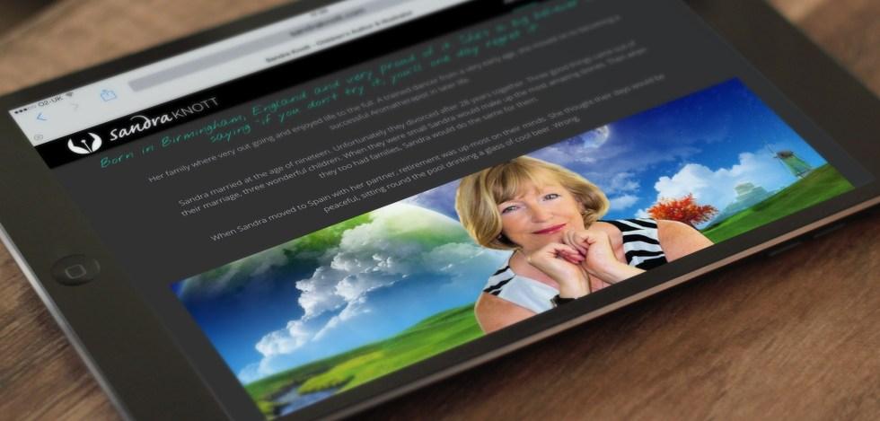 Website Design for Children's Author