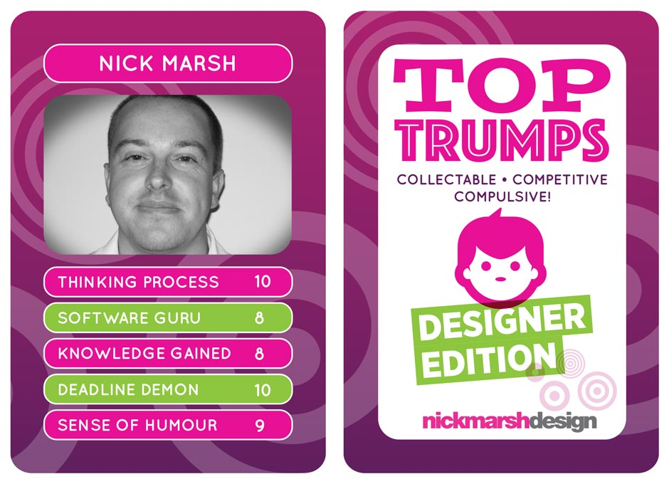 Designer Top Trumps Cards