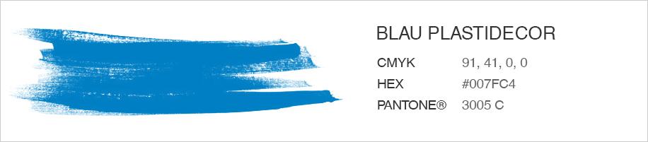 Blau plastidecor - Color personalitzat per penjador infantil
