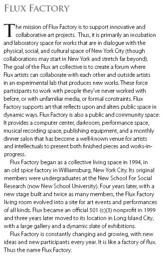 NYNYNY catalogue text