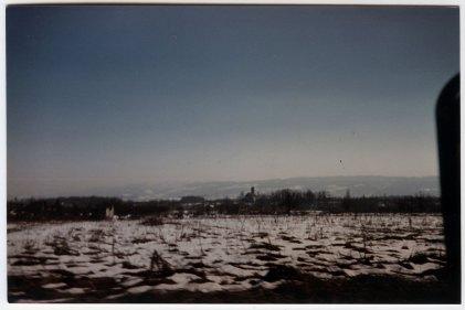 The whole city, flattened. Croatian/Bosnian border February '96