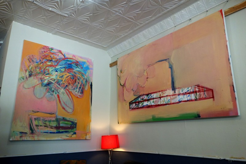 paintings by Chris O'Connor in Restituo