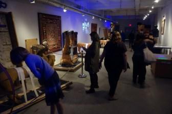inside the secret art storage of the American Folk Art Museum