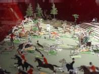 flat tin English hunting toy dioramas