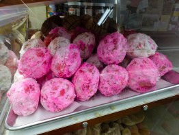 deli now stocked with fluorescent pink balls