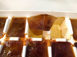Iced coffee cubes