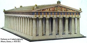 Possible appearance of Parthenon. 400 BC